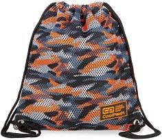 Спортна торба - Sprint Line: Camo Mesh Orange - несесер