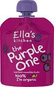 Ella's Kitchen - Био смути от банан, ябълка, касис и боровинки - Опаковка от 90 g за бебета над 6 месеца -