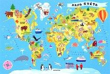 Карта на света - пъзел