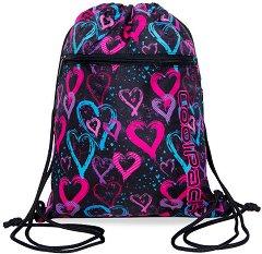 Спортна торба - Vert: Drawing Hearts -