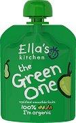 Ella's Kitchen - Био смути от ябълки, банани, круши и киви - Опаковка от 90 g за бебета над 6 месеца - пюре