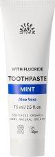 Urtekram Mint Flour Toothpaste - Био паста за зъби с флуорид и мента - паста за зъби