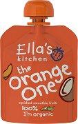 Ella's Kitchen - Био смути от ябълки, манго, банани и кокос - Опаковка от 90 g за бебета над 6 месеца -