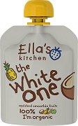 Ella's Kitchen - Био смути от банани, ябълки, ананас и кокосово мляко - Опаковка от 90 g за бебета над 6 месеца -