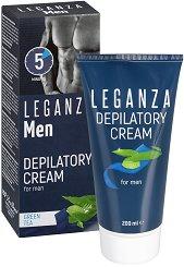 Leganza Men Depilatory Cream - Депилиращ крем за мъже със зелен чай - шампоан