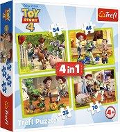 Играта на играчките 4 - Отбор играчки - 4 пъзела -