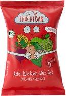 FruchtBar - Био снакс с ябълка и червено цвекло - Опаковка от 30 g за бебета над 12 месеца -