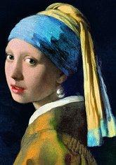 Момиче с перлена обица - Йоханес Вермеер (Johannes Vermeer) - пъзел