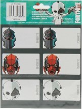 Етикети за тетрадки - Fortnite: Skins - Комплект от 18 броя -