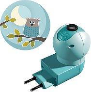 Нощна LED лампа с проектор - Бухал - Детски аксесоар -