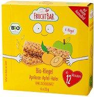 FruchtBar - Био мюсли десерти с ябълка и кайсия - Опаковка от 6 броя x 23 g за бебета над 12 месеца - продукт