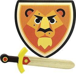 Комплект меч и щит - Лъв - играчка