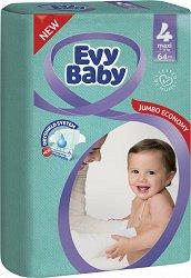 Evy Baby 4 - Maxy - Пелени за еднократна употреба за бебета с тегло от 7 до 18 kg -