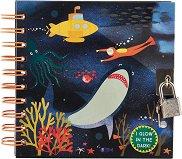 Таен дневник с фосфоресциращи корици - Морско дъно - продукт