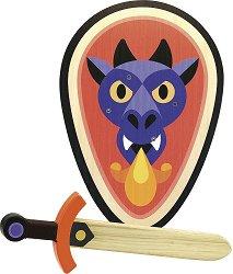 Комплект меч и щит - Дракон - играчка