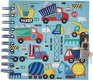 Таен дневник с фосфоресциращи корици - Строителни машини -