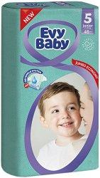Evy Baby 5 - Junior - Пелени за еднократна употреба за бебета с тегло от 11 до 25 kg -