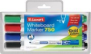 Маркери за бяла дъска с объл връх - 750 - Комплект от 4 цвята