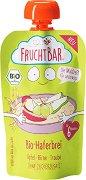Fruchtbar - Био пюре с ябълки, банани, грозде и овес - Опаковка от 120 g за бебета над 6 месеца -