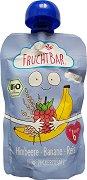 Fruchtbar - Био пюре с банани, малини и ориз - Опаковка от 100 g за бебета над 6 месеца -