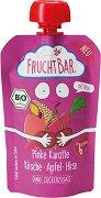 Fruchtbar - Био пюре с ябълки, розов морков, череши и просо - Опаковка от 100 g за бебета над 6 месеца -