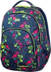 Ученическа раница - Basic Plus: Lime Hearts - раница
