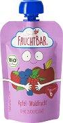 Fruchtbar - Био пюре с ябълки и горски плодове - Опаковка от 100 g за бебета над 6 месеца -