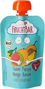 Fruchtbar - Био пюре с банани, гуава, папая и манго - Опаковка от 100 g за бебета над 6 месеца - пюре