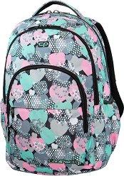 Ученическа раница - Basic Plus: Minty Hearts - раница