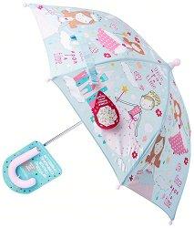 Детски чадър с променящ се цвят - Принцеса -