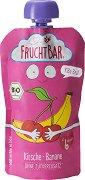 Fruchtbar - Био пюре с банани и череши - Опаковка от 120 g за бебета над 6 месеца - пюре