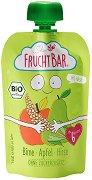 Fruchtbar - Био пюре с ябълки, круши и просо - Опаковка от 100 g за бебета над 6 месеца -