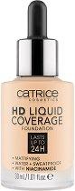 Catrice HD Liquid Coverage Foundation - Дълготраен течен фон дьо тен - очна линия