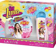 """Детски подаръчен комплект - Soy Luna Ouch - Парфюм-дезодорант и душ гел от серията """"Soy Luna"""" - пила"""