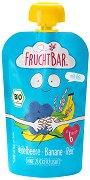 Fruchtbar - Био пюре с банани, боровинки и ориз - Опаковка от 100 g за бебета над 6 месеца -