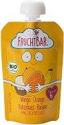Fruchtbar - Био пюре с банани, портокал, манго и кокос - Опаковка от 100 g за бебета над 6 месеца -