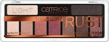 Catrice The Spicy Rust Eyeshadow Pallete - Палитра с 9 цвята сенки за очи - четка