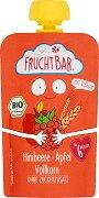 Fruchtbar - Био пюре с ябълки, малини и пълнозърнест микс - Опаковка от 100 g за бебета над 6 месеца -