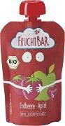 Fruchtbar - Био пюре с ябълки и ягоди - Опаковка от 100 g за бебета над 6 месеца -