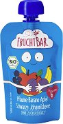 Fruchtbar - Био пюре с ябълки, банани, сливи и касис - пюре