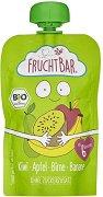 Fruchtbar - Био пюре с ябълки, банани, круши и киви - Опаковка от 100 g за бебета над 6 месеца -