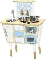 Детска дървена кухня - Винтидж - Комплект с аксесоари - играчка
