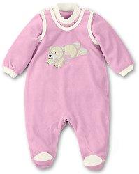 Бебешки комплект - Ella - Гащеризон и блуза - играчка