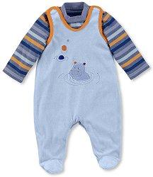 Бебешки комплект - Norbert - Гащеризон и блуза -