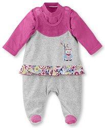 Бебешки комплект - Emilie - Гащеризон и блуза -