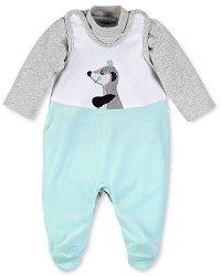 Бебешки комплект - Elvis - Гащеризон и блуза -