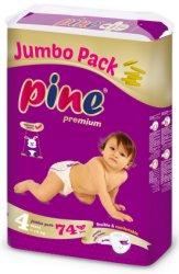 Pine Premium 4 - Maxi - Пелени за еднократна употреба за бебета с тегло от 7 до 18 kg -