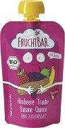 Fruchtbar - Био пюре с банани, грозде, малини и киноа - Опаковка от 100 g за бебета над 6 месеца - пюре