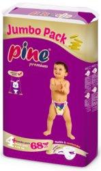 Pine Premium 4 + - Maxi Plus - Пелени за еднократна употреба за бебета с тегло от 9 до 20 kg -