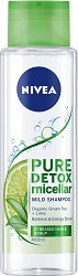 Nivea Pure Detox Micellar Mild Shampoo - Мицеларен шампоан с детоксикиращ ефект - пяна
